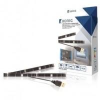 Foto van USB TV-mood light LED 2 strips 50 cm RGB met afstandsbediening