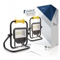 Foto van Mobiele LED Floodlight 50 W 4000 lm Zwart
