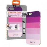 Foto van iPhone 5 hard cover case met stylus en screen protector paarstinten