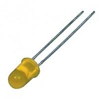 Foto van 5mm LED geel - diffuus