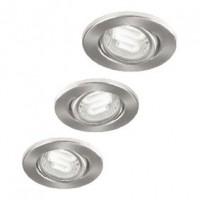 Foto van Inbouwspot spaarlamp set van drie GU10 spaarlampen 9 W