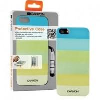 Foto van iPhone 5 hard cover case met stylus en screen protector groentinten