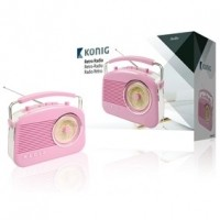 Foto van Retrodesign AM/FM-radio - roze