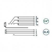 Foto van XLR Panel-mount female receptacle 3 N/A NCJ Horizontaal / PCB Mounting Zwart
