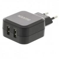 Foto van Lader 2 - Uitgang 4.8 A 2x USB Zwart