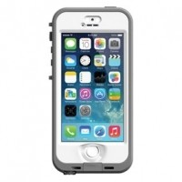 Foto van Nuud case iPhone 5/5S white/grey
