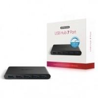 Foto van 7 Poorten Hub USB 3.0 Gevoed Zwart
