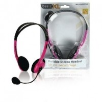 Foto van Draagbare stereo headset roze