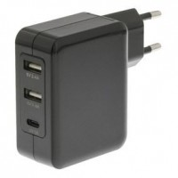 Foto van Lader 3 - Uitgangen 4.8 A 2x USB / USB-C Zwart
