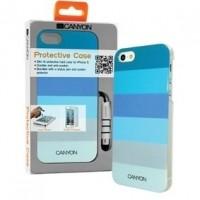 Foto van iPhone 5 hard cover case met stylus en screen protector blauwtinten