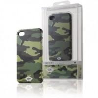 Foto van Rubberachtig telefoonhoesje voor iPhone 4s/4 camouflage groen