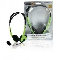 Foto van Draagbare stereo headset groen