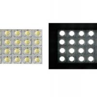 Foto van VERLICHTINGSMODULE - WITTE LEDS MET RONDE DIFFUSER - 12V - 50 x 35mm
