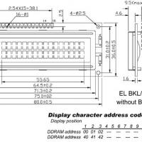 Foto van LCD 16 x 2 GEEN ACHTERGRONDVERLICHTING TN - GROTE KARAKTERS - LOW-COST