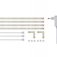 Foto van SET MET FLEXIBELE LEDSTRIPS EN VOEDING - WARMWIT - 4 x 30 cm - 12 VDC