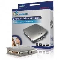 Foto van 2-poorts DVI schakelaar met audio
