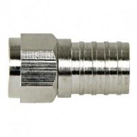 Foto van F-Connector 4.8 mm Female / Male Metaal Zilver