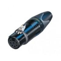 Foto van XLR cable socket 7 N/A XX soldeer connecties Zwart