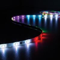 Foto van KIT MET DIGITAAL GEANIMEERDE LED-STRIP, CONTROLLER EN VOEDING - RGB - 150 LEDs - 5 m - 12 VDC