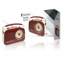 Foto van Retrodesign AM/FM-radio - bruin