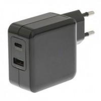 Foto van Lader 2 - Uitgangen 4.8 A USB / USB-C Zwart