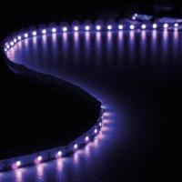 Foto van KIT MET FLEXIBELE LED-STRIP EN VOEDING - ULTRAVIOLET - 300 LEDS - 5 m - 12Vdc - ZONDER COATING