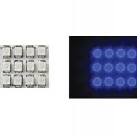 Foto van VERLICHTINGSMODULE - BLAUWE LEDS MET RONDE DIFFUSER - 12V - 17 x 20mm