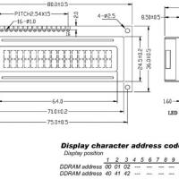Foto van LCD 16 x 2 BOTTOM VIEW TRANSFLECTIEF MET ACHTERGRONDVERLICHTING