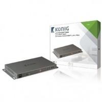 Foto van 4 x 2-Poorts HDMI Matrix Donkergrijs