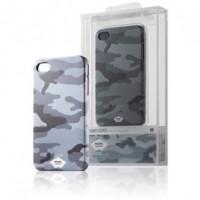 Foto van Rubberachtig telefoonhoesje voor iPhone 4s/4 camouflage grijs
