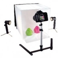 Foto van Foldable Mini Photo Studio Halogen 40 x 40 x 40 cm