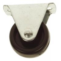Foto van 4 NYLON WIELTJES - ZWART - 25 mm, 10 kg/st