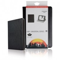 "Foto van Universele tablethoes van kunstleer voor tablet 7-8"" zwart"