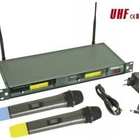 Foto van DRAADLOOS 8-KANAALS UHF DUBBEL MICROFOONSYSTEEM MET LCD-SCHERM