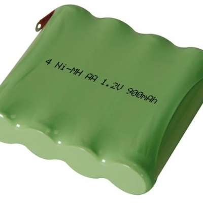 NI-MH PACK 4.8V-900mAh MET SOLDEERLIPPEN