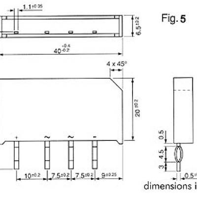 GELIJKRICHTER 250V-5A (B250-C5000/3300)