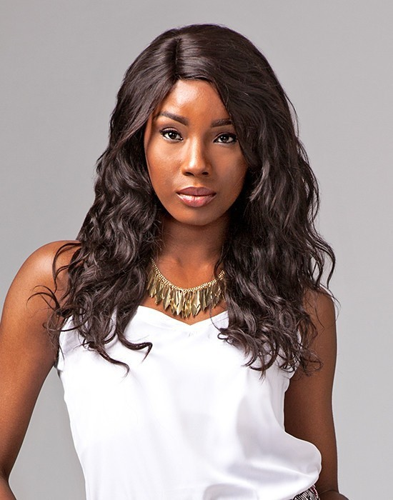 SENSATIONNEL BARE AND NATURAL Lace Wig Natural Wavy