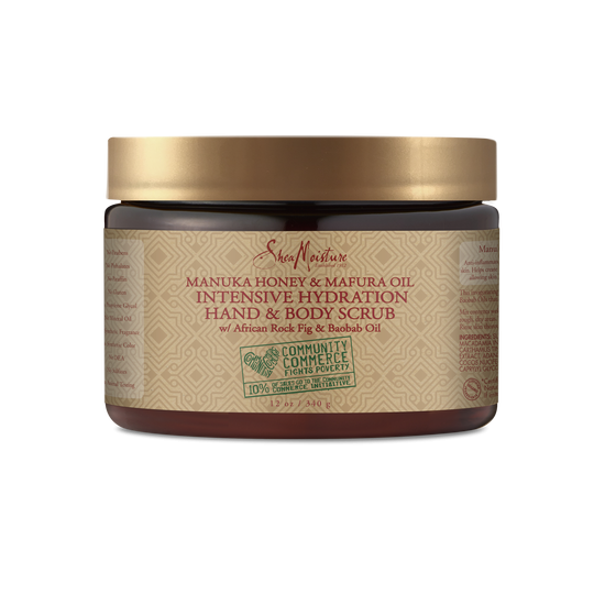 SHEA MOISTURE MANUKA HONEY & MAFURA OIL INTENSIVE HYDRATION BODY SCRUB