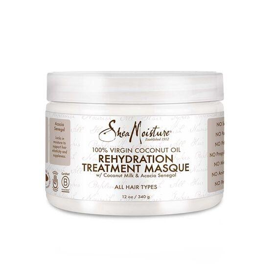 SHEA MOISTURE 100% VIRGIN COCONUT OIL Rehydation Treatment Masque