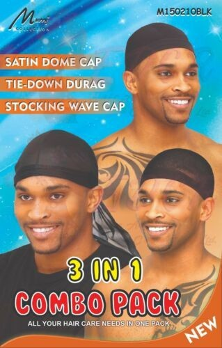 SPANDEX DOME CAP - TIE DOWN DURAG - STOCKING WAVE CAP