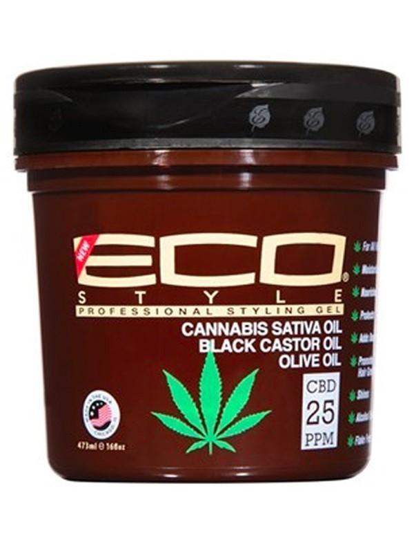 ECO STYLER Cannabis Sativa Oil Black Castor Oil Olive Oil 16 oz