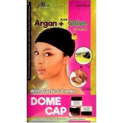 Foto van ARGAN + OLIVE OIL DOME CAP Elastic & Combs