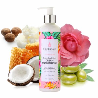 Foto van Flora & Curl Organic Rose & Honey Cream Conditioner