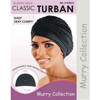 Foto van TURBAN HAT BLACK