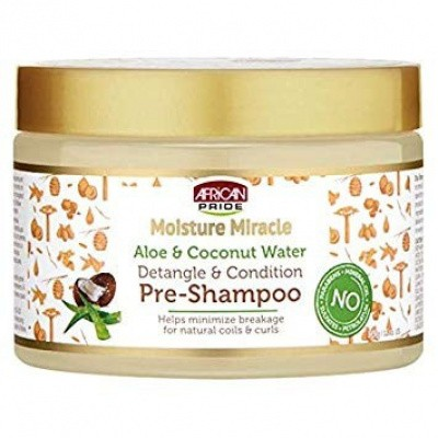 Foto van AFRICAN PRIDE MOISTURE MIRACLE Aloe & Coconut Water Pre-Shampoo