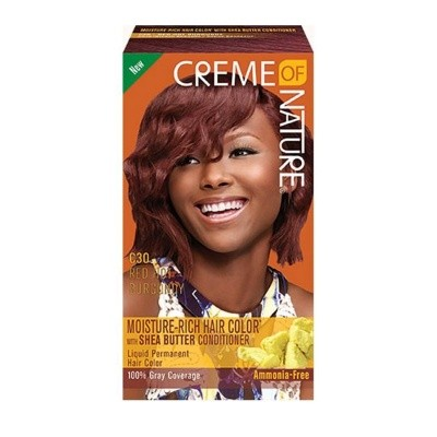 CREME OF NATURE red hot burgundy C30