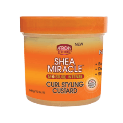 AFRICAN PRIDE SHEA MIRACLE For Natural Hair Curl Styling Custard