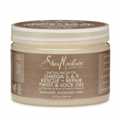 Foto van SHEA MOISTURE SACHA INCHI OIL OMEGA 3,6,9 Rescue + Repair Twist & Lock Gel