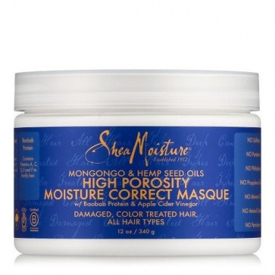 Foto van SHEA MOISTURE MONGONGO & HEMP SEED OILS HIGH POROSITY Moisture-Seal Masque