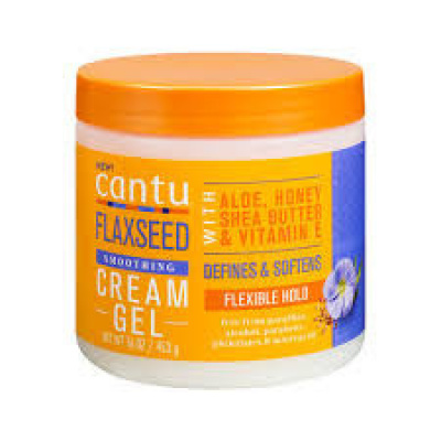 Foto van Cantu Flaxseed Smoothing Cream Gel 16 oz/ 453 g